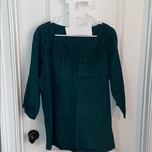 Dark Green Talbots Blouse